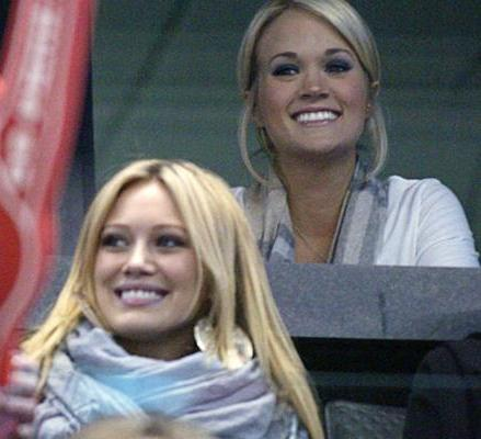 Hilary Duff and Carrie Underwood are now the main attraction of Sens games.
