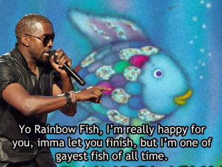 Kanye west reaction to gay fish