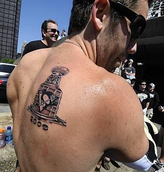 30 nhl tattoos for 30 nhl teams the lowdown for Pittsburgh tattoo ideas