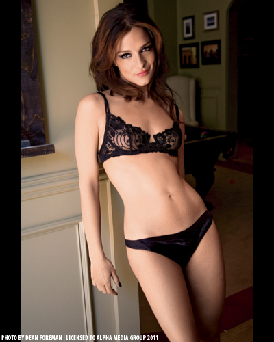 black lingerie panties wearing picture maxim photo shoot camera