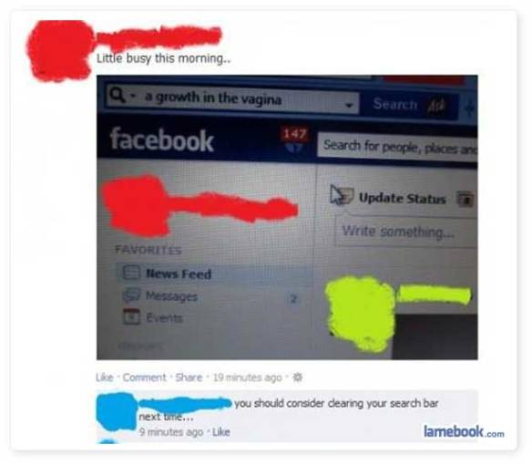 how to clear your facebook search