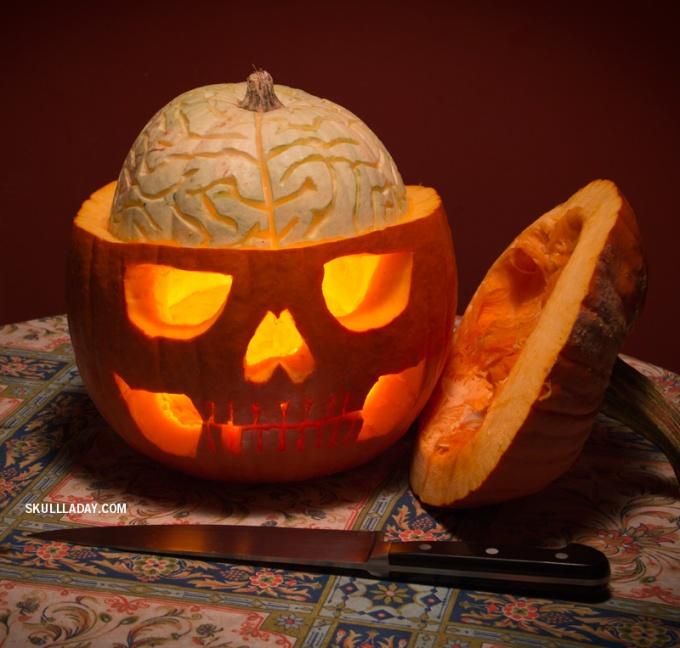 pumpkin-brain-jack-o-lantern