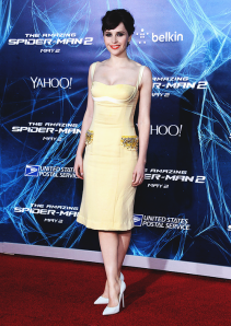 felicity jones spiderman 2 premiere