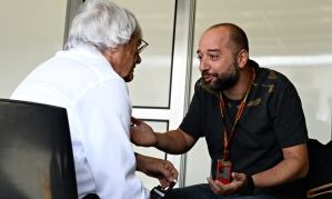 Formula One CEO Bernie Ecclestone discusses the future of the sport with Lotus owner Gérard Lopez.