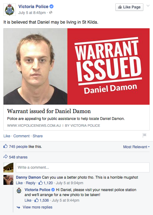 police-on-facebook-fail
